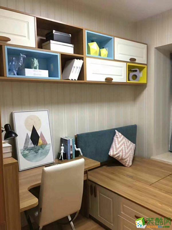 现代简约风格两室一厅80�O两居室装修效果图赏析---书房