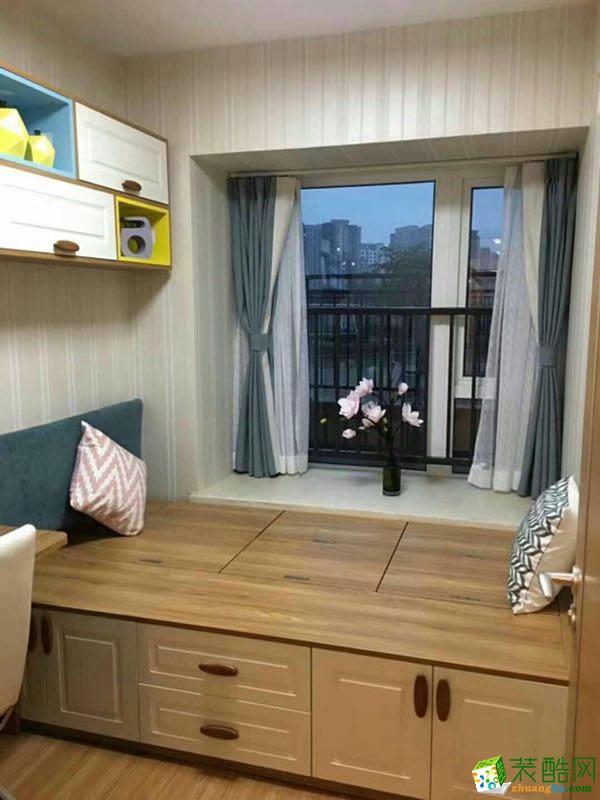 绿森林装饰公司|现代简约风格两室一厅80�O两居室