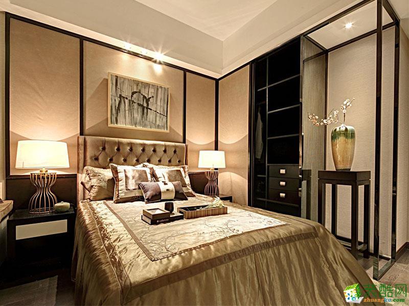 110平米新中式三居室裝修效果圖