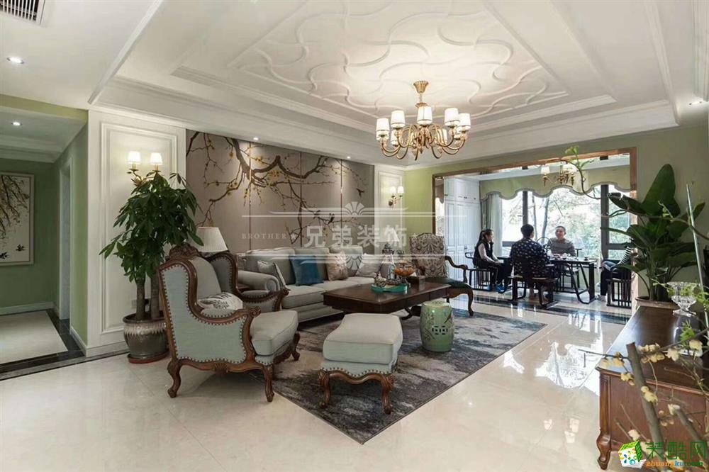 【兄弟装饰】龙湖源著美式风格四居室装修设计案例