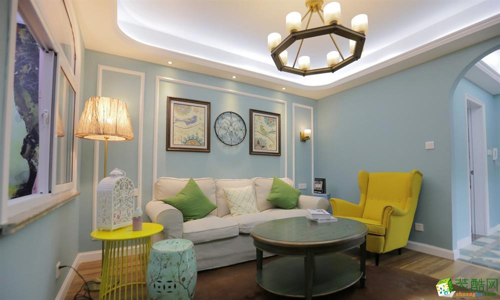 江南美裝飾全有裝—光谷悅城123㎡美式風格三居室裝修案例