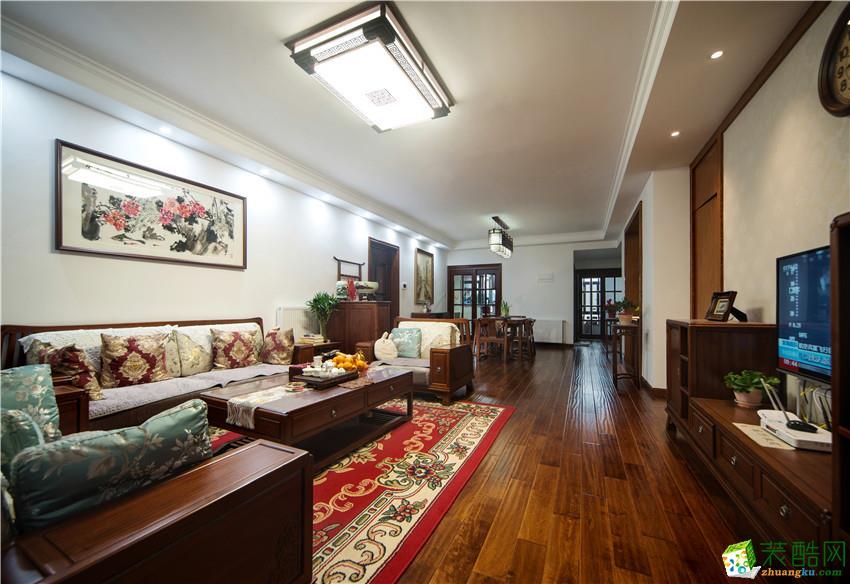 【澳华装饰】海伦春天160�O中式风格四室两厅装修效果图