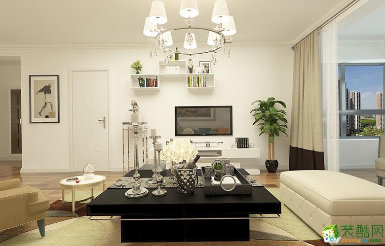 120平米現代簡約三居室裝修效果圖