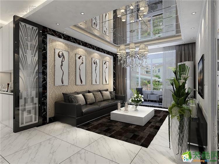 >> 【力天装饰】碧水庄园 112㎡ 简欧两室两厅装修效果图图片