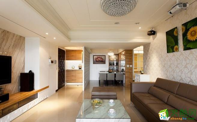 客厅 德本迪国际设计张巧慧设计师在全开放的空间里,以三道墙面打造完美设计风水宅。 133平现代风格装修效果图-永丰装饰