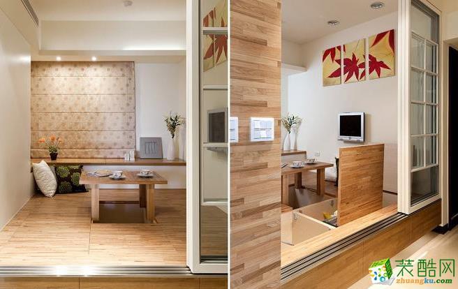 客厅 清玻璃拉门设计让客厅空间视景放大,架高地板下方有大容量的收纳空间。 133平现代风格装修效果图-永丰装饰