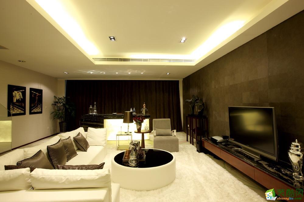 《重庆佳天下装饰》港式风格100平米跃层住宅