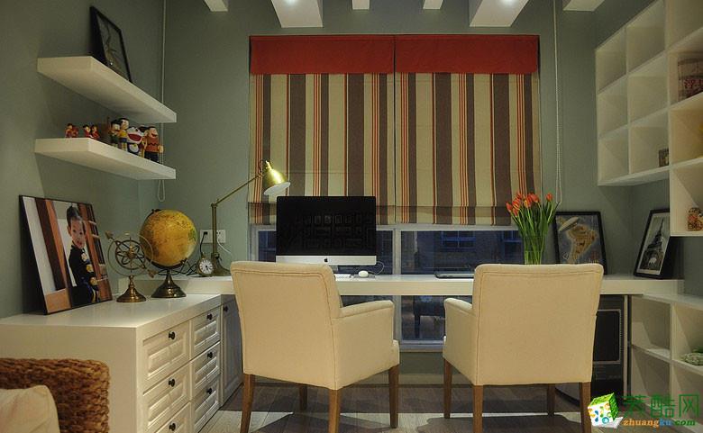 西安城市人家装饰-美式三居室装修效果图