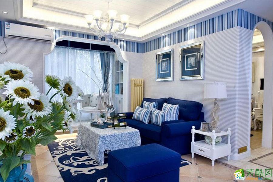 【家和装饰 成都】金山御景蓝湾104平米地中海风格三居室