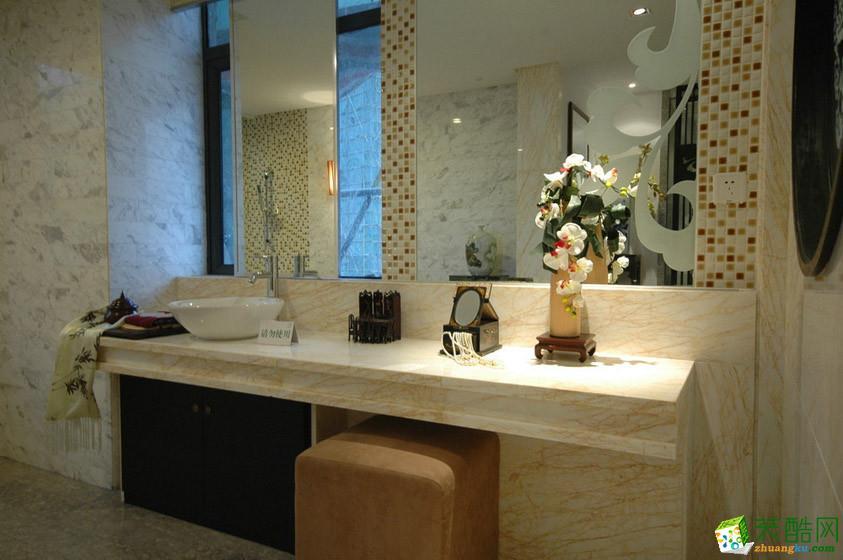 西安创艺装饰-中式四居室装修效果图