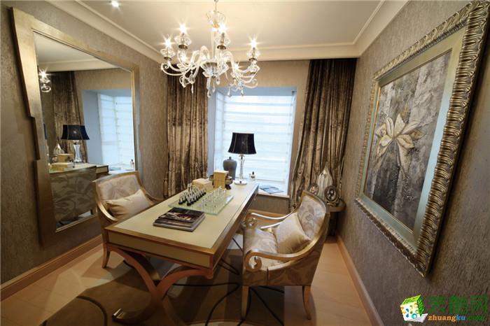 【深行装饰】财盛金悦苑110平米欧式三居室