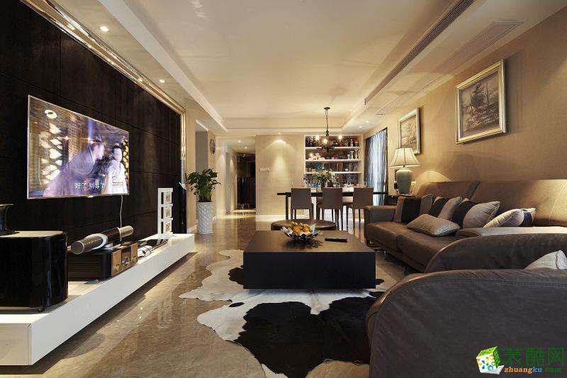 【名雕装饰】保利江上明珠乐园95平米欧式风格三居室