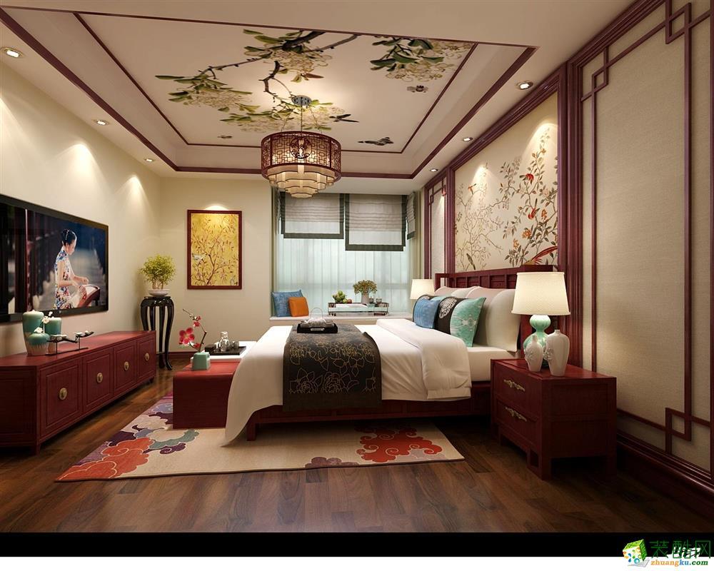 【嘉禾装饰 武汉】盘龙城沁园280平新中式风格别墅装修效果图