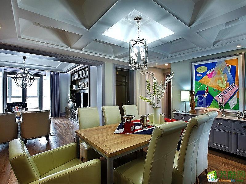 地中海四居室装修效果图-餐厅装修效果赏析