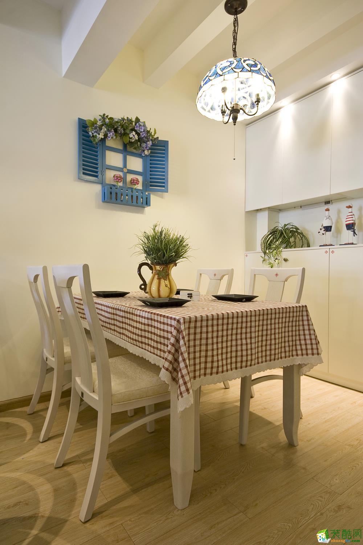 地中海三居室装修效果图-餐厅装修效果赏析