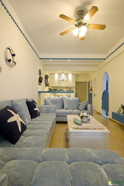 地中海三居室装修效果图-客厅装修效果赏析