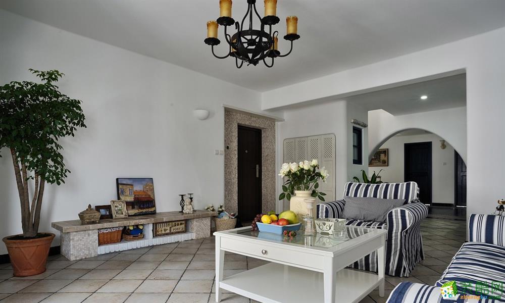 【几木装饰】98平米地中海风格两居室装修案例图