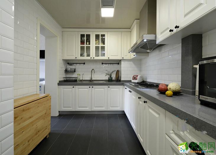 美式乡村两居室装修效果图-厨房装修效果赏析