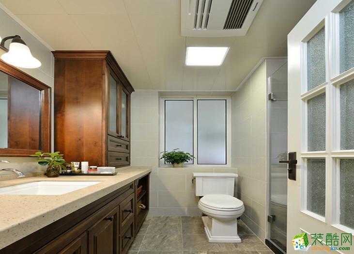 美式乡村两居室装修效果图-卫生间装修效果赏析