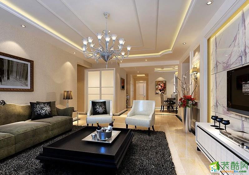 【卓艺装饰】130平米简欧风格四居室装修案例图