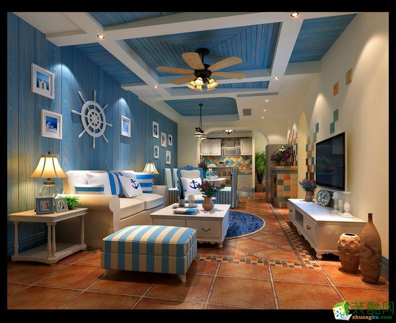 【卓艺装饰】125平米地中海风格三居室装修案例图