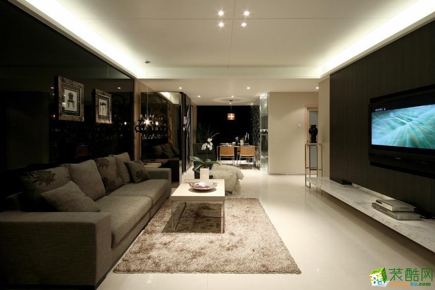【小蜜蜂装饰】128平米简约风格三居室装修案例图