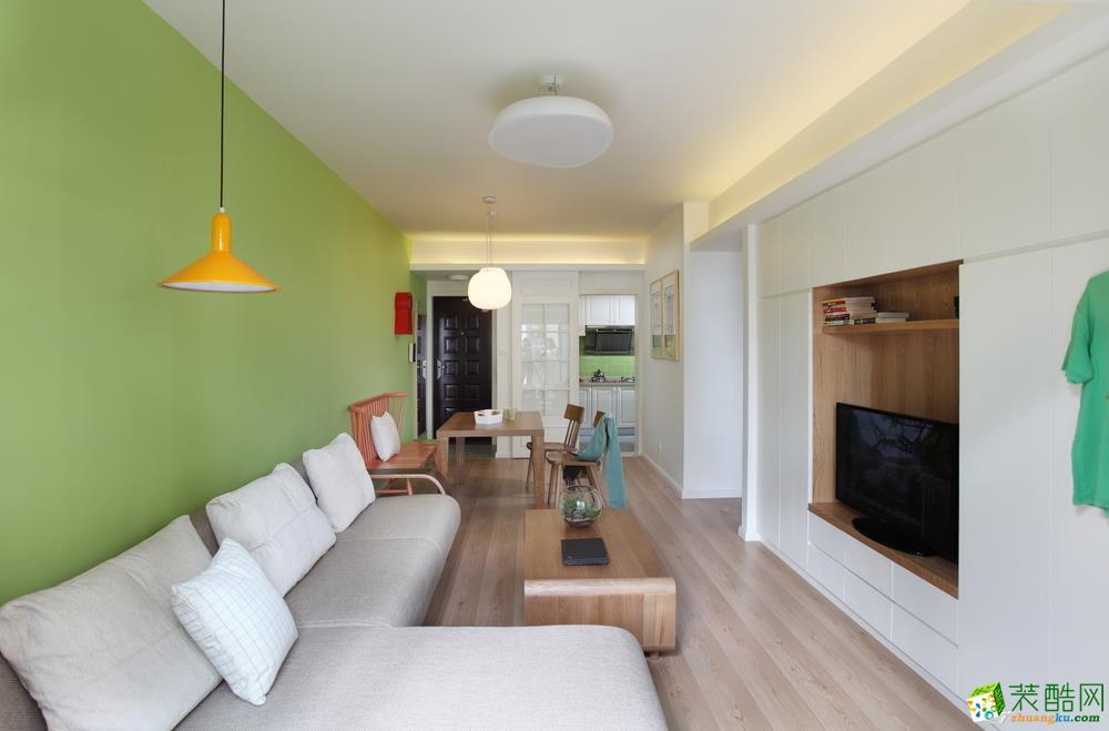 【尚美装饰】126平米田园风格三居室装修案例图