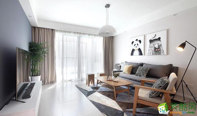 西安苹果装饰-两居室北欧风装修效果图