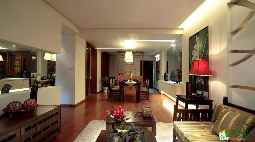 【奥诺装饰】金辉城江城里160平米东南亚风格三居室
