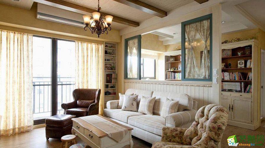 【奥诺装饰】幸福时光里96平米美式乡村风格两居室