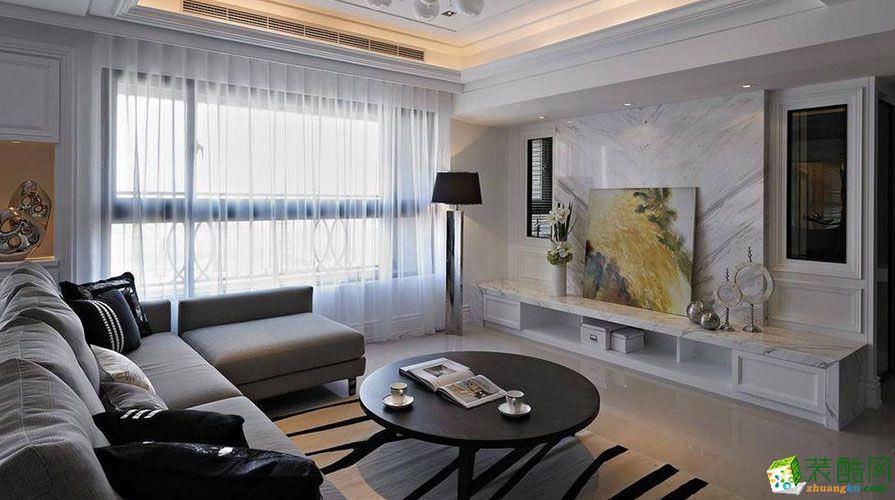 【桔子装饰】润丰水尚130平米美式风格三居室