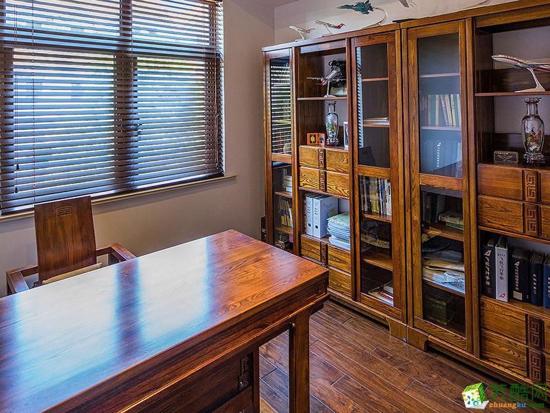 中式三居室装修效果图-书房装修效果赏析