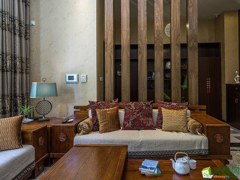 客厅 中式三居室装修效果图-客厅装修效果赏析 沈阳一方装饰-中式三居室装修效果图