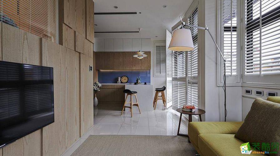 【鸿匠装饰】66平米混搭风格两居室装修案例图