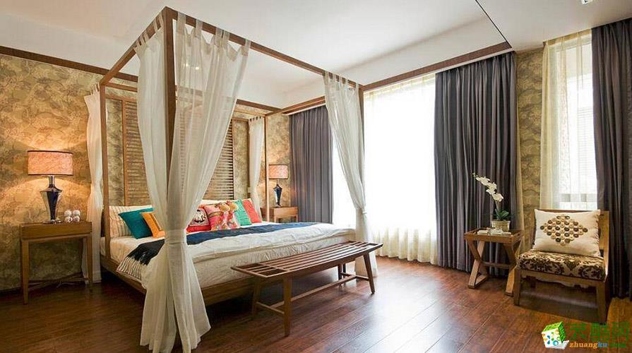 【梦居装饰】110平米东南亚风格三居室装修案例图