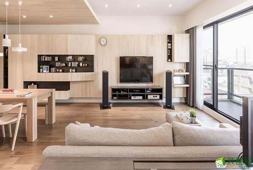 76平米北欧两居室装修效果图