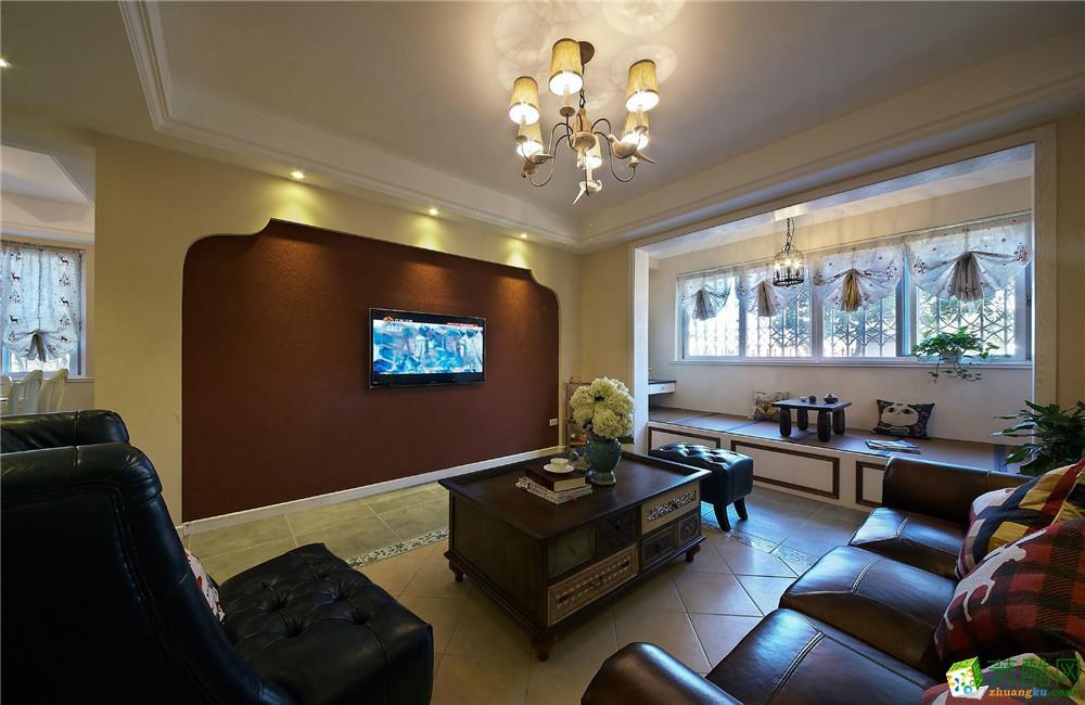 【奥诺装饰】约克郡116平米美式三居室装修案例图