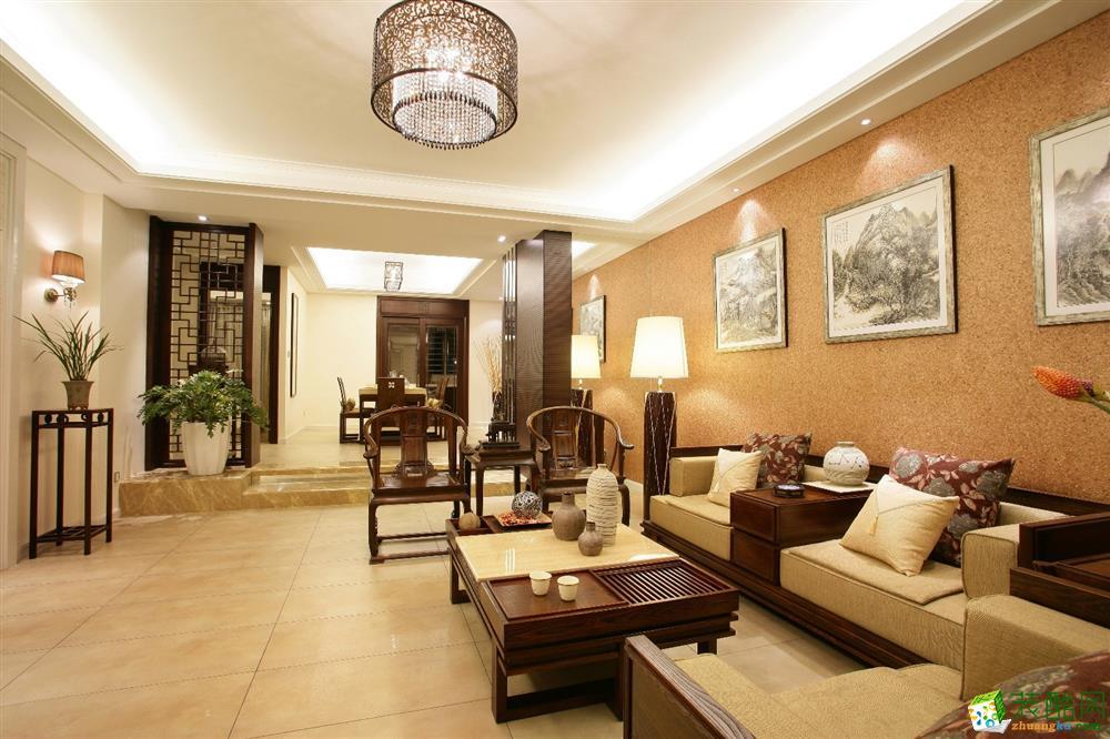 【奥诺装饰】尚江宸溪香苑106平米中式风格三居室装修案例图