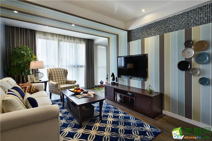 【桔子装饰】爱情谷96平米现代简约风格三居室装修案例图