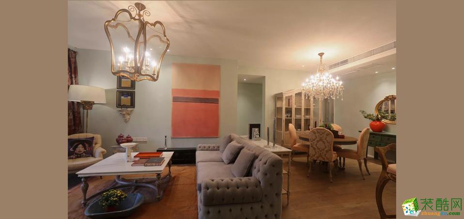 【桔子装饰】北大资源海樾府96平米法式风格两居室装修案例图