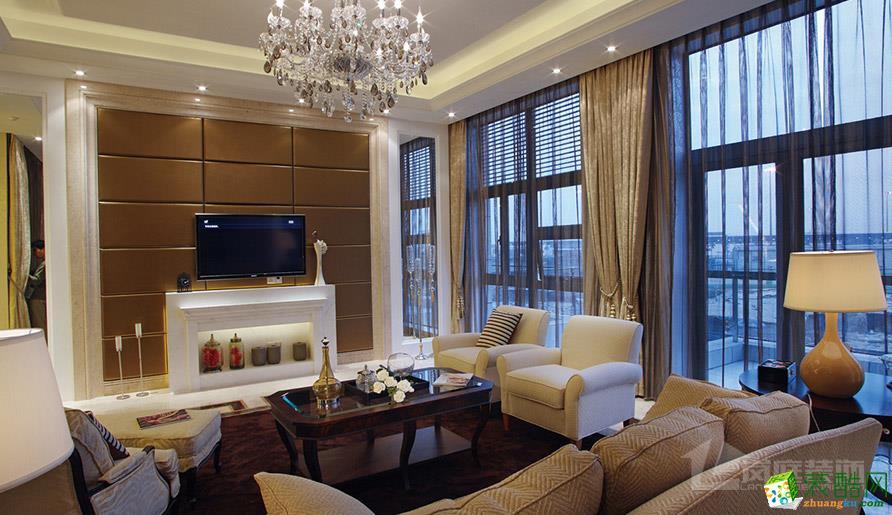 【岚庭装饰】成都后花园99平米新古典风格两居室装修案例图