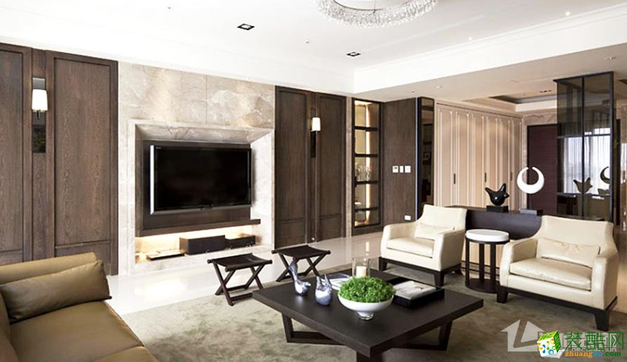 【岚庭装饰】龙城一号二期88平米后现代两居室装修案例图