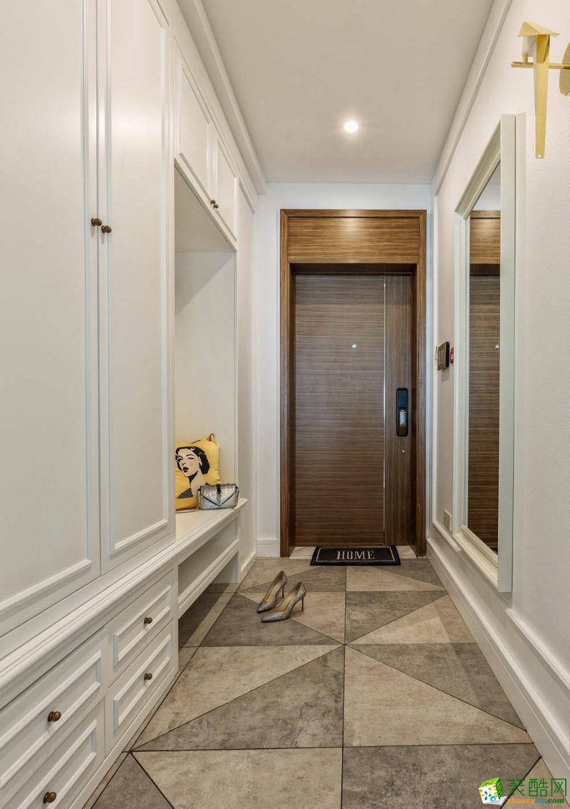 成都鑫佰利装饰---珑熙郡118平米简欧风格三居室装修案例图赏析。
