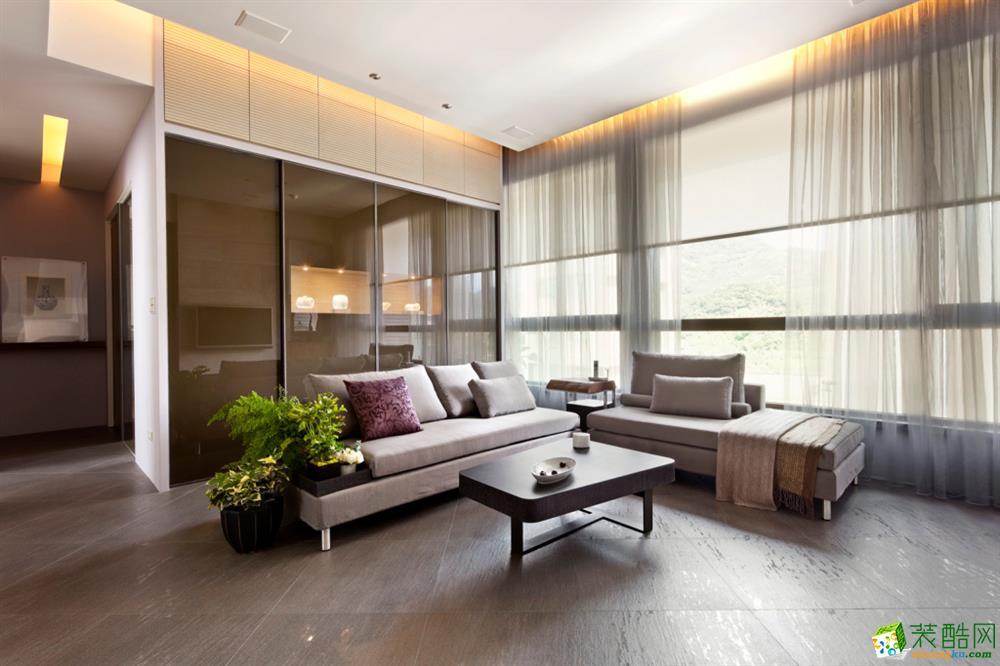 【拜斯达装饰】爱家798 130�O现代风格三室两厅装修效果图
