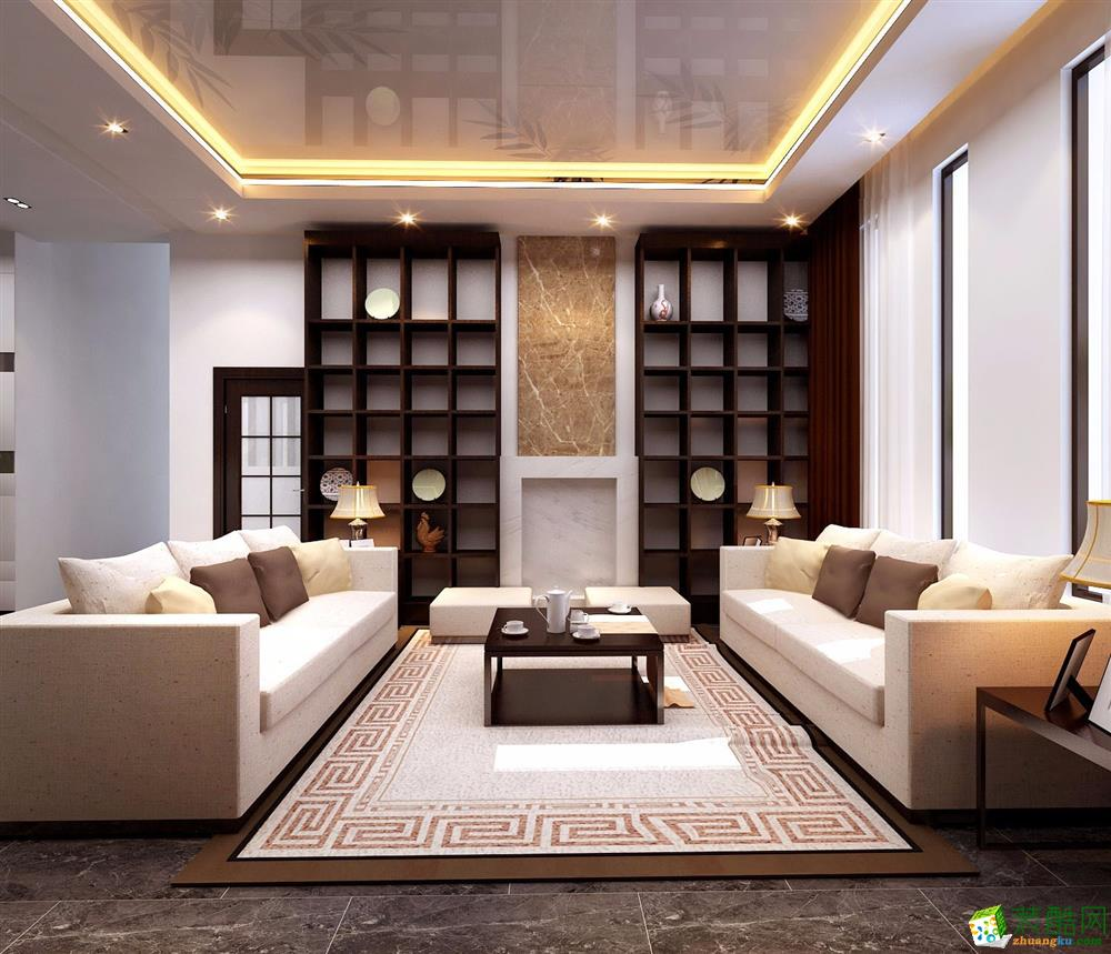 两室两厅 89平 中式风格 装修效果