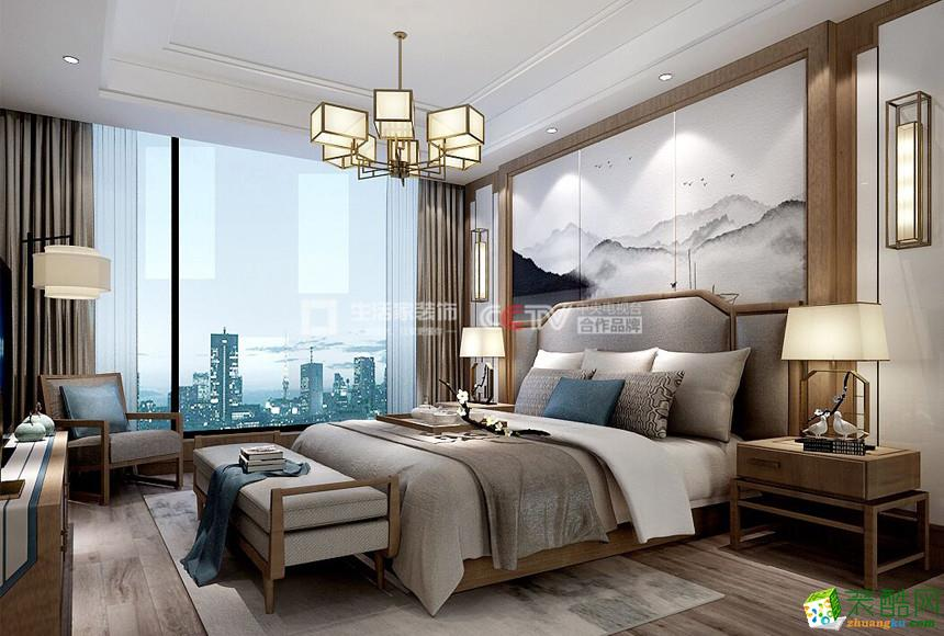 成都生活家装饰---信和御龙山200平米中式风格四居室装修案例图赏析。