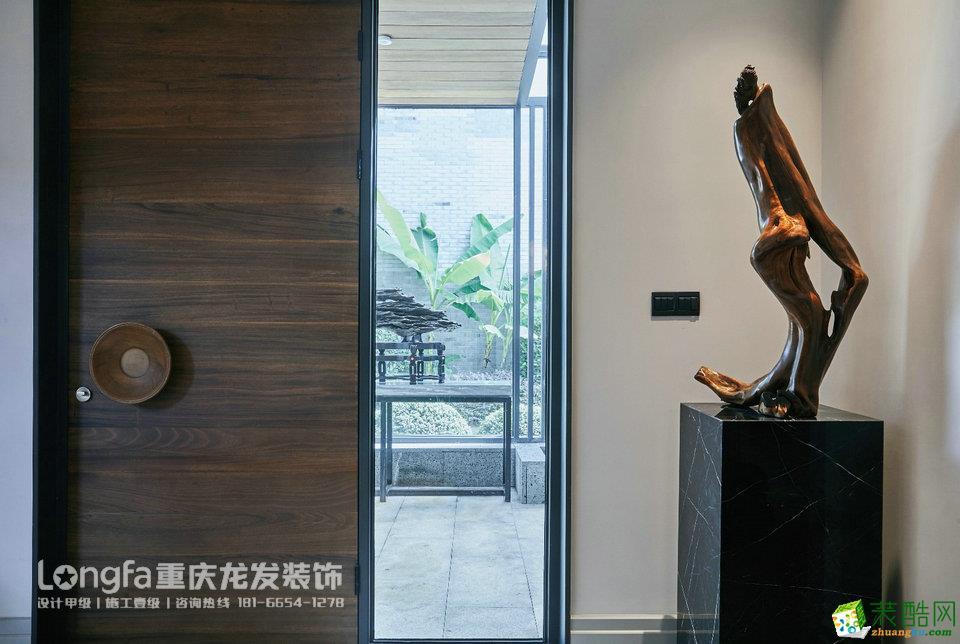 重庆龙发装饰丨财信赖特与山别墅装修效果图