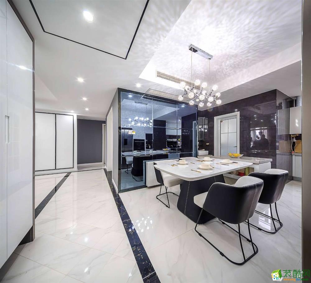 【三文鱼设计】国际百纳110�O三室两厅美式风格装修效果图