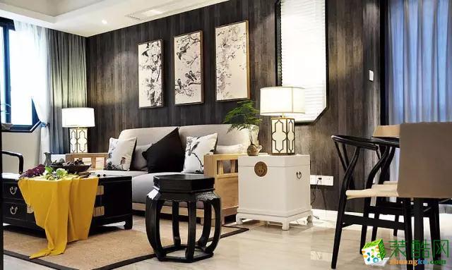 黑白分明的家具,浓郁的中式元素