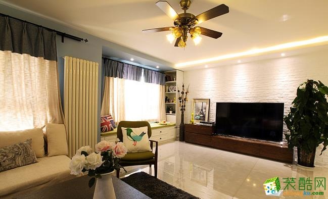80平两居室现代风格装修效果图-予我装饰